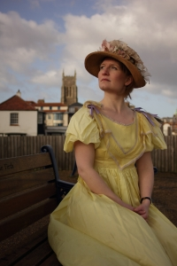 Victorian costumed character in Cromer